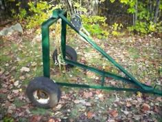 Homemade ATV Log Skidding Arch: Upclose video; This one looks easy enough for me to attempt!