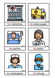 Woordenschatkaarten thema ziek zijn Dutch Language, Home Schooling, Children, Kids, Kindergarten, Books, Autism, Vocabulary, Young Children