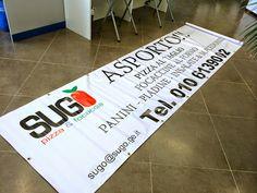 #striscione in #PVC per #pizzeria SUGO pizza&focaccia #Genova. www.decografic.com