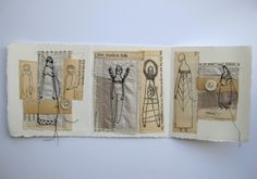 the kindest folk original mixed media collage by Cathy Cullis. Her work is so captivating