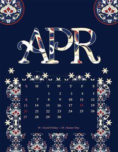 Our April 2014 calendar.