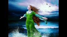 We ocean dwellers know this feeling. We can't live too far inland, because at any time, or season, we may need to stand this way, alone on the shore and let the wind wash us clean. Water Brush, Fantasy Art Women, Grimm, Spas, Female Art, Virginia, Disney Characters, Fictional Characters, Creatures