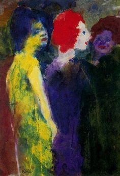 The Redhead - Emil Nolde - The Athenaeum Emil Nolde, Love Painting, Painting & Drawing, Albertina Wien, Wassily Kandinsky, Karl Schmidt Rottluff, L Eucalyptus, Street Art, Edvard Munch