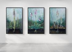 Stay in connection with nature through this evocative series of wild orchids! State your love for nature decorating your living room or bedroom with these *vegan art prints. Also a unique gift for nature lovers!  * I painted the original artwork with eco paints on organic linen and sustainable wood.