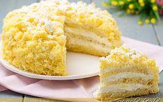 Torta mimosa all'ananas ricetta facile