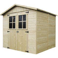 Abri de jardin en bois Mayenne, 4.4 m² | Leroy Merlin Ramen, Garage Doors, Shed, Outdoor Structures, Outdoor Decor, Modern, Home Decor, Leroy Merlin, Products