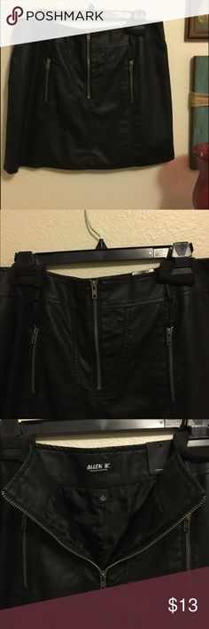 ALLEN B. Faux leather mini skirt.. Mini skirt in black, has two front pockets. Belt loops. 100% viscose shell and liner 100% polyester. New with tags. Machine washable. Pet/smoke free home. Thank you checking out my closet Poshers 🙋🏻🤗 ABS Allen Schwartz Skirts Mini