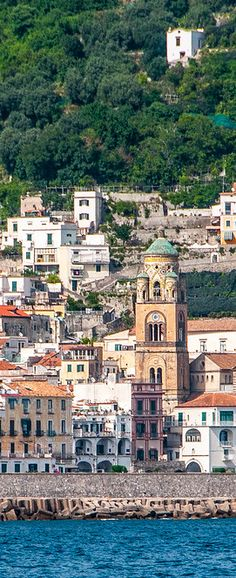 The Town of Amalfi, Italy as Seen From the Sea