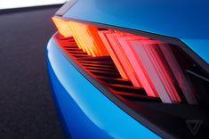 Peugeot's Instinct concept car is its vision of an autonomous near-future - Car Lighting - Transport Futuristic Motorcycle, Futuristic Cars, Automotive Logo, Automotive Design, Upcoming Cars, Interior Design Website, Future Car, Future Tech, Custom Lighting