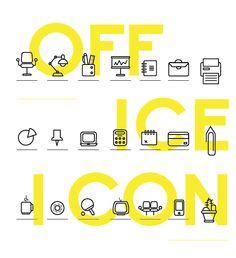 OFFICE // KITCHEN icon by Antonello Fazio, via Behance