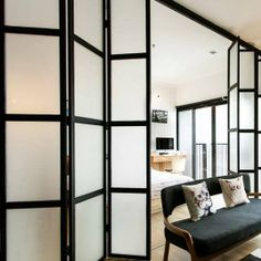COOL SCREENS -- replace bedroom doors and closet doors?   Kitty's Folding Screen Small Space House Call