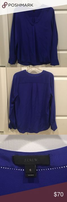 Brand new 100% silk blue J. Crew blouse Brand new never worn. V neck silk blouse. Great for all occasions. J. Crew Tops Blouses