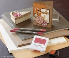 Starting August CTMH has alcohol markers and pigment ink pads. D Craft, Alcohol Markers, Ink Pads, Copics, Close To My Heart, Clear Stamps, Craft Videos, Stampin Up Cards, Medium