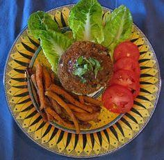 Sweet Potato, Black Bean & Quinoa Burgers