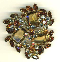 D&E aka Juliana Topaz and Gray Brooch  Item: 14816 by Cleoras on Etsy