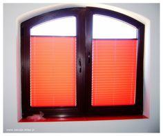 Czerwone #plisy materiałowe Katowice