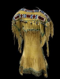 Woman's Dress - Comanche - ca. 1860  I think I just died and fell in love!!!   I would absolutely LOVE this dress!