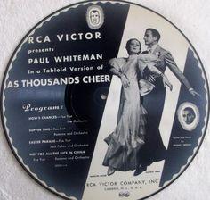 "Big 50% Discount Auction !!!     PAUL WHITEMAN  As Thousands Cheer / Let  Em Eat Cake  RCA Victor #78rpm 12"" #Schellackplatte"