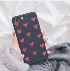 Retro Red Love Heart Phone Case For iPhone Samsung Cases, Iphone Cases, Iphone Price, Cute Cases, Heart Patterns, Heart Print, Car Accessories, Smartphone, Hearts