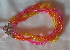 Beaded friendship bracelet DIY