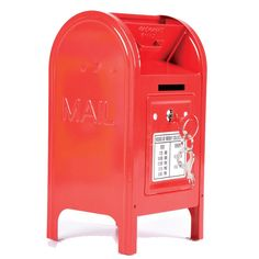 Rhode Island Novelty Metal Mailbox Bank: These mailbox banks provide a fun introduction to fiscal responsibility. No color choice available. Each piece in colorful printed box. Metal Mailbox, Red Mailbox, Rhode Island Novelty, Savings Box, Key Safe, Gift Finder, Home Hacks, Piggy Bank, Cute Kids