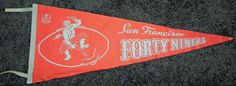 1960's San Francisco Forty Niners Pennant  by AntiqueSportsShop