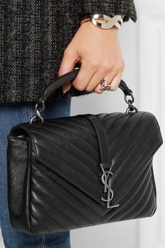 Saint Laurent - College medium quilted leather shoulder bag beb417a833cab