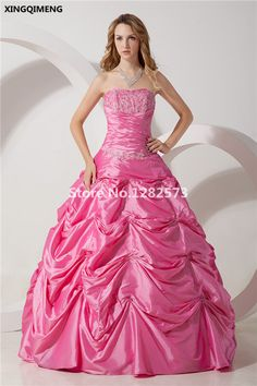 >> Click to Buy << Hot Pink Elegant Quinceanera Dresses 2017 Sweet 16 Dresses Appliques Beading Ball Gown vestidos de 15 anos Formal Party Gowns #Affiliate