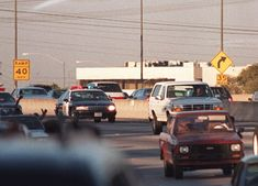 TV Re-creation of the OJ Simpson car chase in the white Ford Bronco