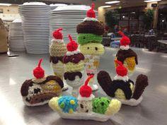 My Crocheted World: Ice Cream Banana Split Free Pattern!