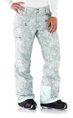 Blend in on the mountain with these insulated pants.