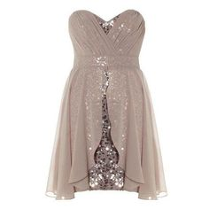 Shimmery Gold Homecoming Dresses Sequins Chiffon Short Prom Dress Sweetheart Neckline High Waist For on Luulla