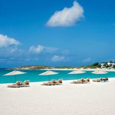 The bleach-white shoreline of Maundays Bay, Anguilla | Coastalliving.com