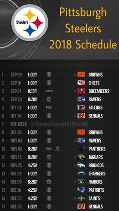 Epic image within pittsburgh steelers printable schedule