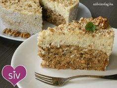 diótorta vaníliás krémmel - finom diétás torta