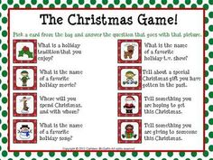 The Christmas Game: Fun to play in the days leading up to Christmas Break! Great for practicing active listening skills. Comes in PDF, PowerPoint, and SMARTBoard versions.