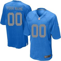 0df7d3f53 Nike Detroit Lions Customized Blue Stitched Elite Youth NFL Jersey  Grizzlies Jersey