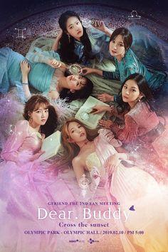 """Gfriend """"Dear Buddy cross the sunset"""" Fan meeting Kpop Girl Groups, Korean Girl Groups, Kpop Girls, Extended Play, Gfriend And Bts, Friends Poster, Kpop Posters, Kim Ye Won, Jung Eun Bi"""