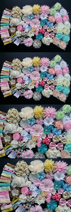 Hair Accessories 18786: Baby Shower Station,Deluxe Diy Kits,Headband,Shabby Flowers Party Supply,Xms N -> BUY IT NOW ONLY: $34.31 on eBay!