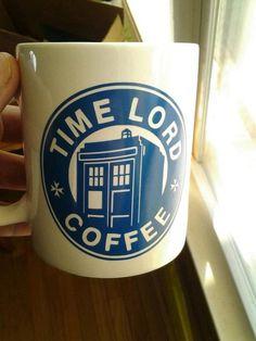 Doctor Who and Starbucks inspired Coffee Mug - Vinyl Decal on Mug on ...