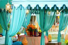 Outdoor wedding in stunning shades of Aqua Blue...