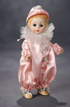 Madame Alexander, The Rodney Waller Collection: Part Two: 16 Alexander-Kins Pierrot Clown in Pink Costume, 1956 Creepy Vintage, Vintage Circus, Antique Dolls, Vintage Dolls, Pierrot Clown, Artist Film, Vintage Madame Alexander Dolls, Pink Costume, Send In The Clowns