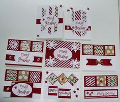 Hand crafted Christmas cards set of eight with envelopes - Greeting Cards & Invitations