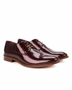 Four eyelet derby shoe - Dark Red   Shoes   Ted Baker