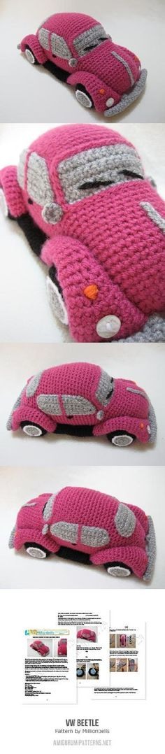 VW (inspired) Beetle Bug Amigurumi Pattern