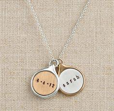 Personalized Teardrop Charm Necklace {seventy-five dollars}