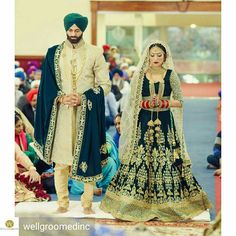 Wellgroomed Designs Inc ( Sikh Wedding Dress, Wedding Dresses Men Indian, Wedding Outfits For Groom, Wedding Sherwani, Pakistani Wedding Outfits, Indian Bridal Outfits, Indian Dresses, Punjabi Wedding, Wedding Lenghas