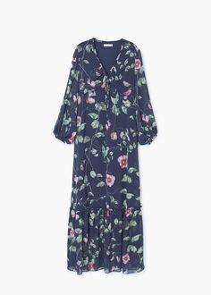 Soepelvallende gebloemde jurk | MANGO