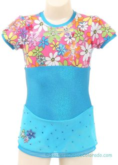 Consignment Spotlight Designs Custom Turquoise Lycra Child 4-6 at www.SkatersChoiceColorado.com