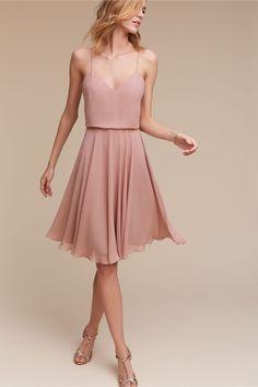 short maids option | Sienna Dress in Rose Quartz from BHLDN